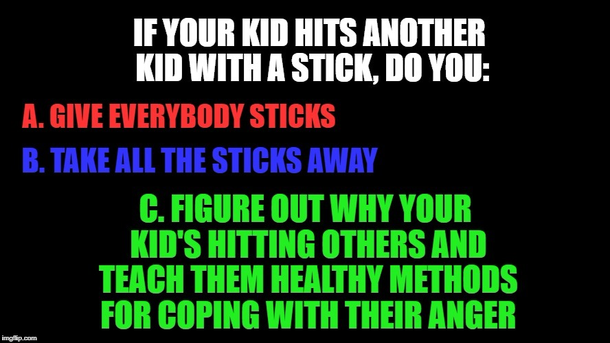 How to really stop mass shootings | image tagged in shootings,guns,republicans,democrats,kids | made w/ Imgflip meme maker