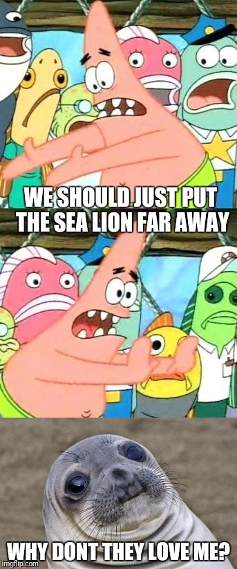 WE SHOULD JUST PUT THE SEA LION FAR AWAY WHY DONT THEY LOVE ME? | made w/ Imgflip meme maker