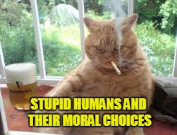 STUPID HUMANS AND THEIR MORAL CHOICES | made w/ Imgflip meme maker