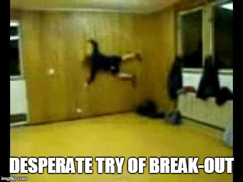 DESPERATE TRY OF BREAK-OUT | made w/ Imgflip meme maker
