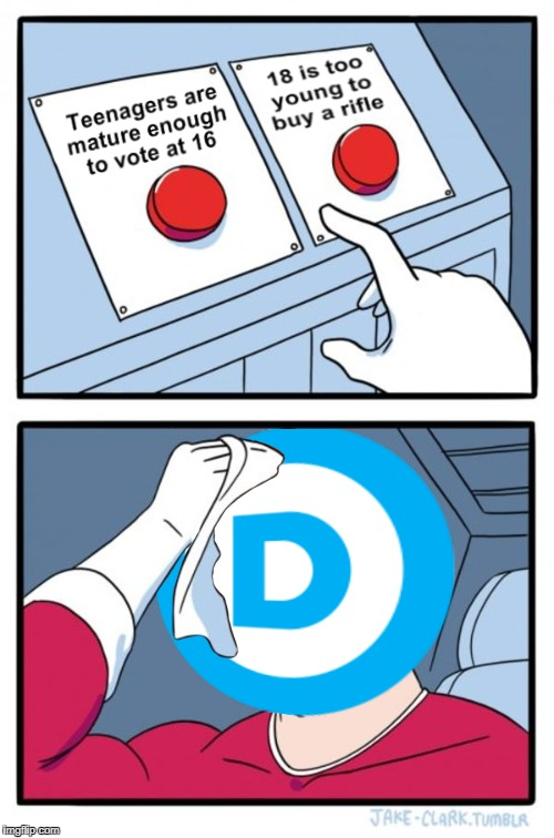 Doublethink | image tagged in democrats,liberals,gun laws,cognitive dissonance | made w/ Imgflip meme maker