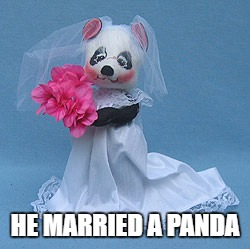HE MARRIED A PANDA | made w/ Imgflip meme maker