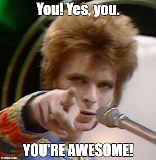 bowie thinks you re awesome imgflip