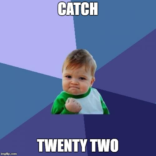 Success Kid Meme | CATCH TWENTY TWO | image tagged in memes,success kid | made w/ Imgflip meme maker