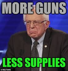 MORE GUNS LESS SUPPLIES | made w/ Imgflip meme maker