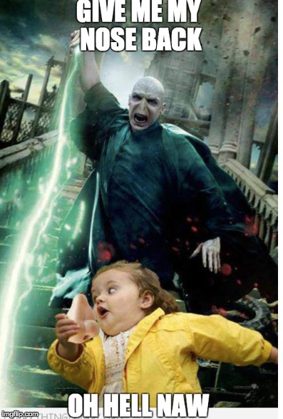 Wow! Voldemort Chasing after a Toddler..?  | image tagged in harry potter meme,voldemort | made w/ Imgflip meme maker