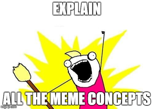 X All The Y Meme | EXPLAIN ALL THE MEME CONCEPTS | image tagged in memes,x all the y | made w/ Imgflip meme maker