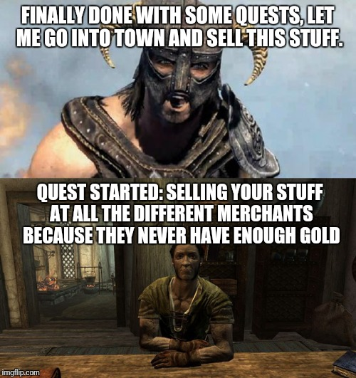 merchant quest how to give