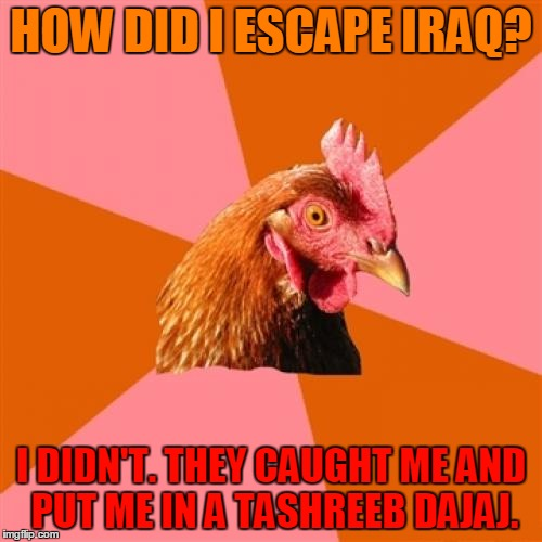 "Well, you didn't think he was going to say ""Iran,"" did you? (>‿◠) 