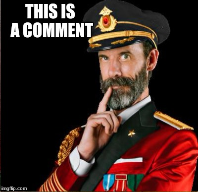 Captain obvious(ly wrong) | THIS IS A COMMENT | image tagged in memes,funny,gifs,cats,captain obvious,dogs | made w/ Imgflip meme maker