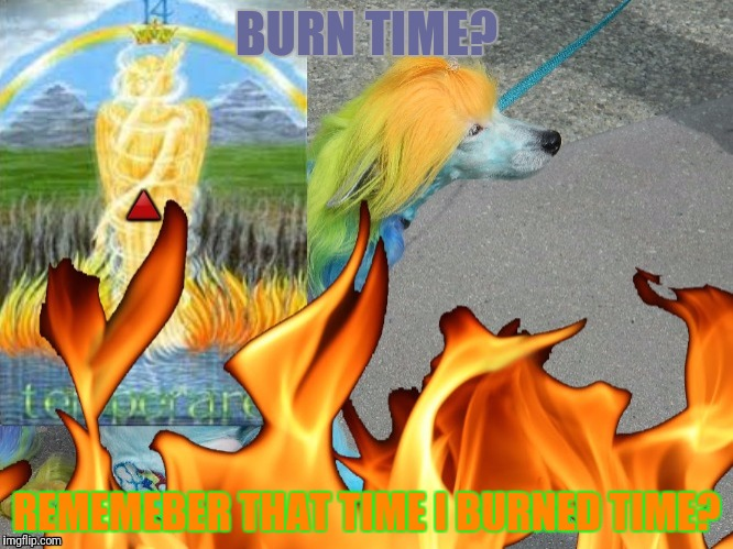 BURN TIME? REMEMEBER THAT TIME I BURNED TIME? | made w/ Imgflip meme maker