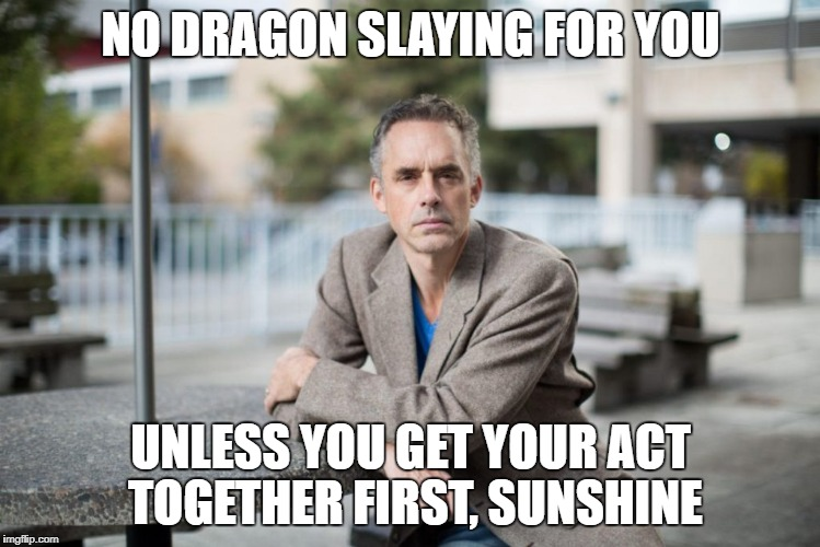NO DRAGON SLAYING FOR YOU UNLESS YOU GET YOUR ACT TOGETHER FIRST, SUNSHINE | made w/ Imgflip meme maker
