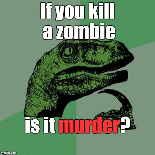 "A moral dilemma? Or semantics?  I guess it's ""academic"" until they show up... 