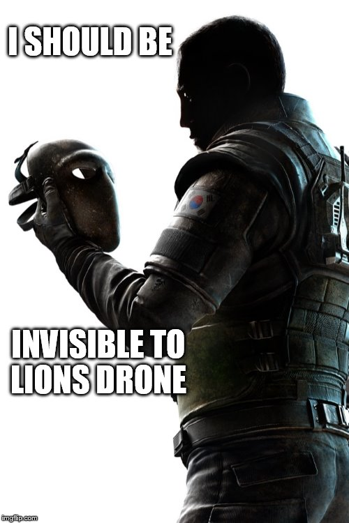 I SHOULD BE INVISIBLE TO LIONS DRONE | image tagged in vigil 2 | made w/ Imgflip meme maker