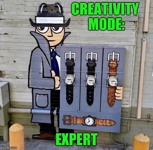 Hiding electrical meter bases | CREATIVITY MODE: EXPERT | image tagged in expert mode,pipe_picasso,artist | made w/ Imgflip meme maker