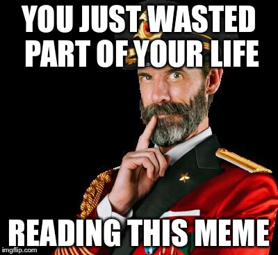 captain obvious | YOU JUST WASTED PART OF YOUR LIFE READING THIS MEME | image tagged in captain obvious,memes | made w/ Imgflip meme maker