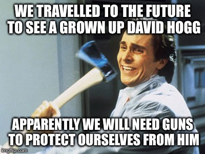 Image result for temper tantrum David Hogg