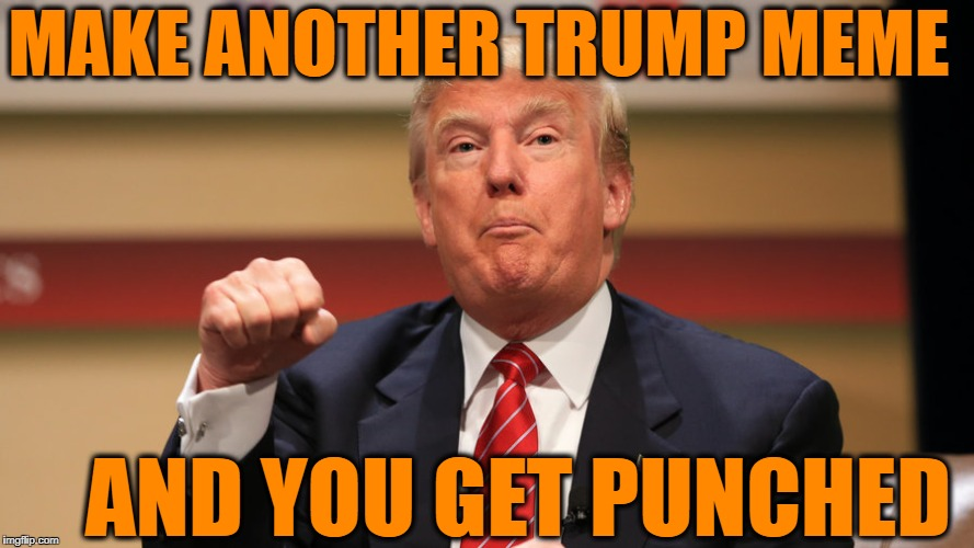 MAKE ANOTHER TRUMP MEME AND YOU GET PUNCHED | made w/ Imgflip meme maker