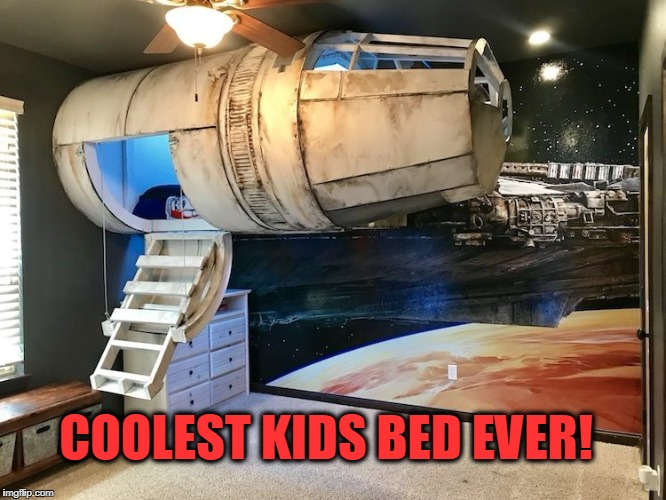 COOL | COOLEST KIDS BED EVER! | image tagged in cool,star wars,han solo,bed,epic | made w/ Imgflip meme maker