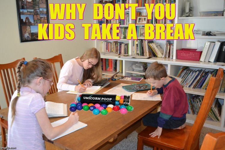 WHY  DON'T  YOU  KIDS  TAKE  A  BREAK | made w/ Imgflip meme maker