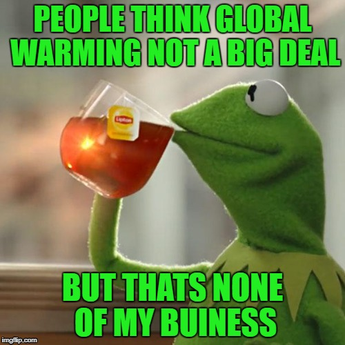 But Thats None Of My Business Meme | PEOPLE THINK GLOBAL WARMING NOT A BIG DEAL BUT THATS NONE OF MY BUINESS | image tagged in memes,but thats none of my business,kermit the frog | made w/ Imgflip meme maker