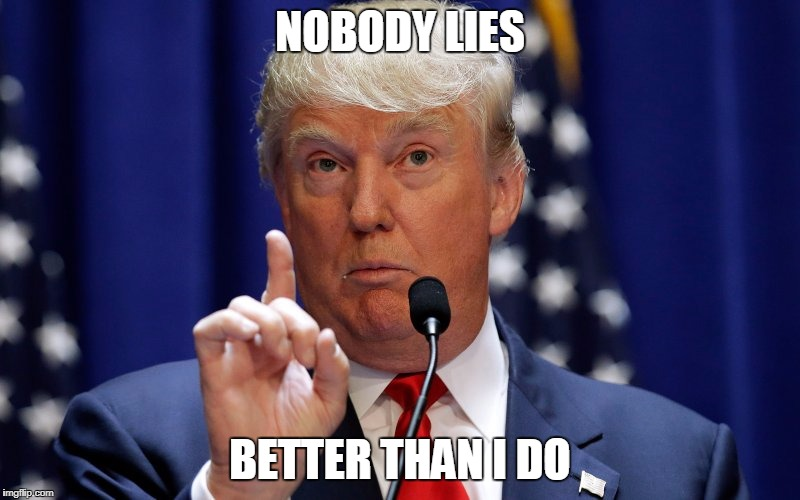 Donald Trump | NOBODY LIES BETTER THAN I DO | image tagged in donald trump | made w/ Imgflip meme maker