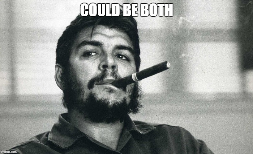 Che | COULD BE BOTH | image tagged in che | made w/ Imgflip meme maker