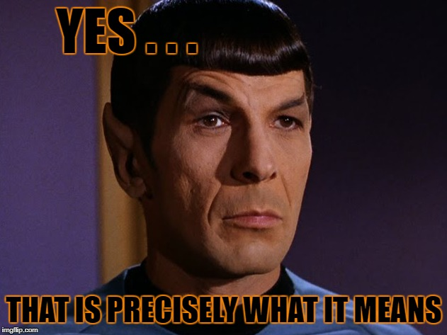 YES . . . THAT IS PRECISELY WHAT IT MEANS | made w/ Imgflip meme maker