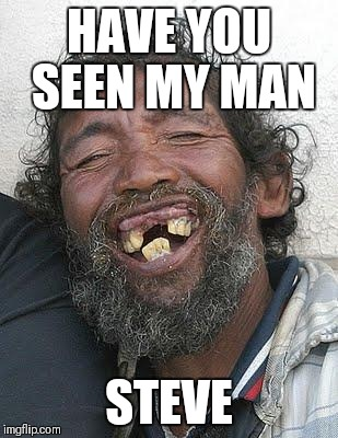 Ugly people | HAVE YOU SEEN MY MAN STEVE | image tagged in ugly people | made w/ Imgflip meme maker