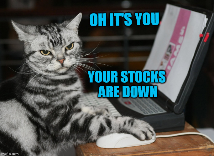 OH IT'S YOU YOUR STOCKS ARE DOWN | made w/ Imgflip meme maker