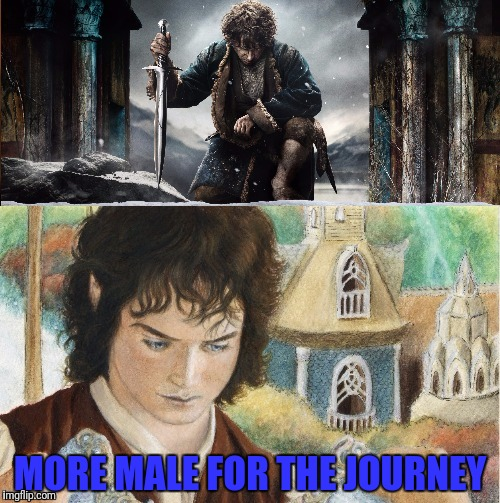 MORE MALE FOR THE JOURNEY | made w/ Imgflip meme maker