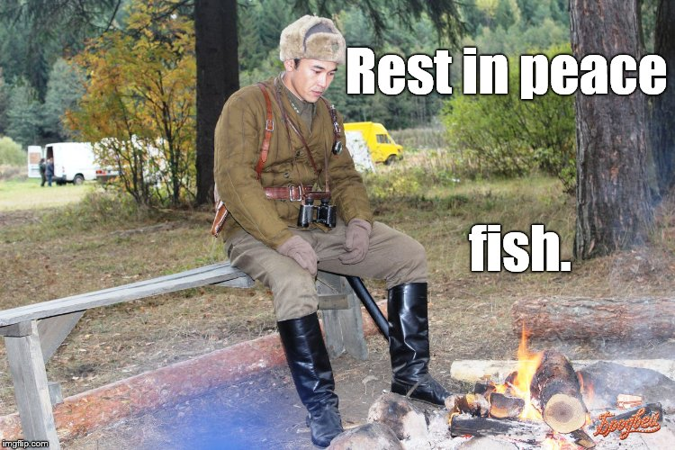 Corporal Chen Chang | Rest in peace fish. | image tagged in corporal chen chang | made w/ Imgflip meme maker