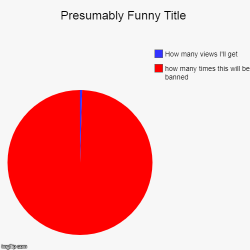 how many times this will be banned, How many views I'll get | image tagged in funny,pie charts | made w/ Imgflip pie chart maker