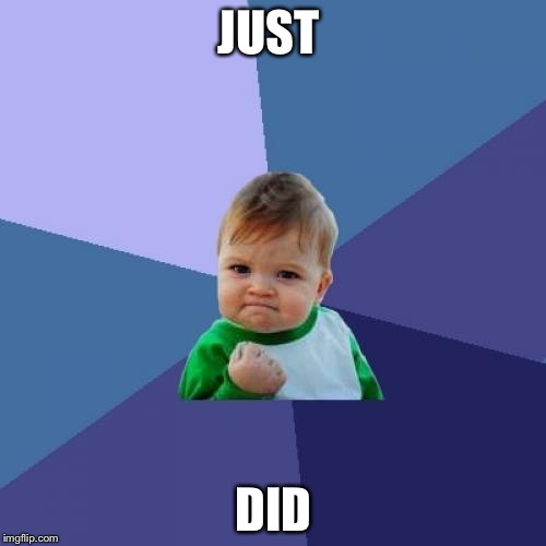 Success Kid Meme | JUST DID | image tagged in memes,success kid | made w/ Imgflip meme maker
