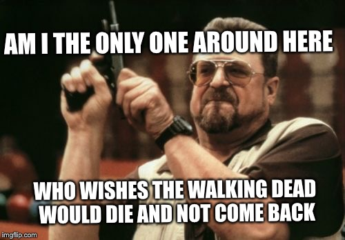 Am I The Only One Around Here Meme | AM I THE ONLY ONE AROUND HERE WHO WISHES THE WALKING DEAD WOULD DIE AND NOT COME BACK | image tagged in memes,am i the only one around here | made w/ Imgflip meme maker