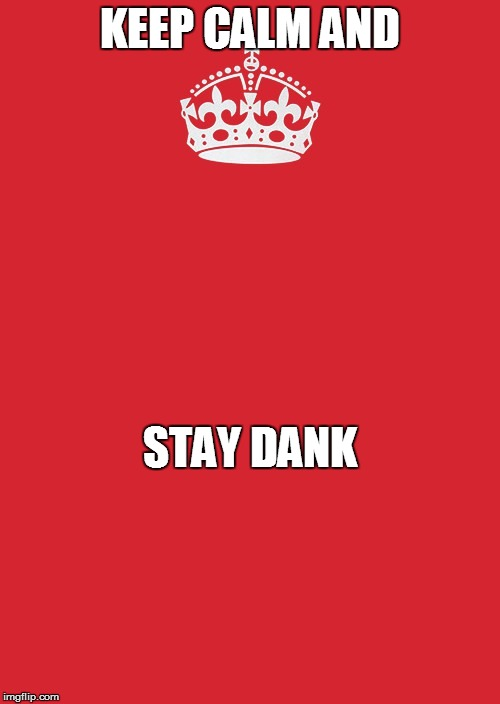 Keep Calm And Carry On Red Meme | KEEP CALM AND STAY DANK | image tagged in memes,keep calm and carry on red | made w/ Imgflip meme maker