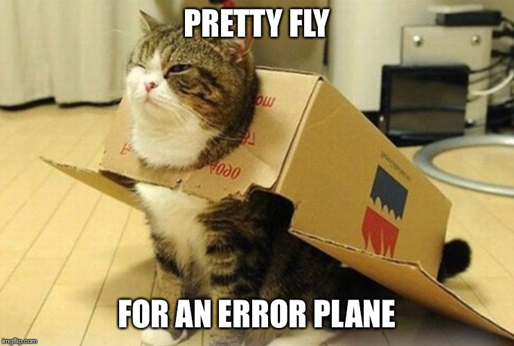 At least he's grounded... | PRETTY FLY FOR AN ERROR PLANE | image tagged in memes,airplane,airplane wrong week | made w/ Imgflip meme maker