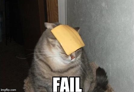 FAIL | image tagged in memes,fail,cat | made w/ Imgflip meme maker