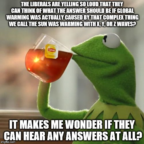 But Thats None Of My Business Meme | THE LIBERALS ARE YELLING SO LOUD THAT THEY CAN THINK OF WHAT THE ANSWER SHOULD BE IF GLOBAL WARMING WAS ACTUALLY CAUSED BY THAT COMPLEX THIN | image tagged in memes,but thats none of my business,kermit the frog | made w/ Imgflip meme maker