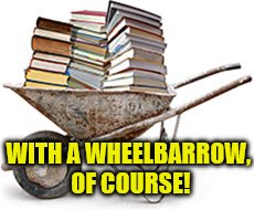 WITH A WHEELBARROW, OF COURSE! | made w/ Imgflip meme maker