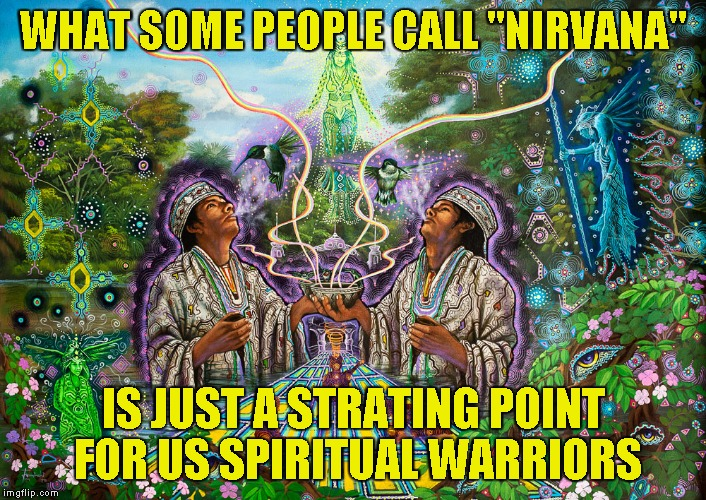 "WHAT SOME PEOPLE CALL ""NIRVANA"" IS JUST A STRATING POINT FOR US SPIRITUAL WARRIORS 