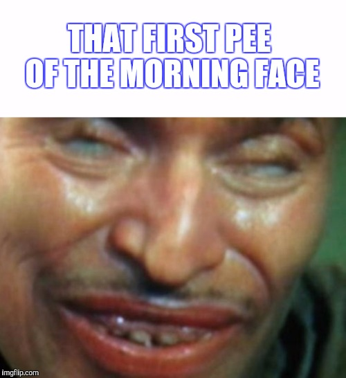 AAAAHHHHHHHHHH | THAT FIRST PEE OF THE MORNING FACE | image tagged in that face you make when,pee,relief,feel good | made w/ Imgflip meme maker