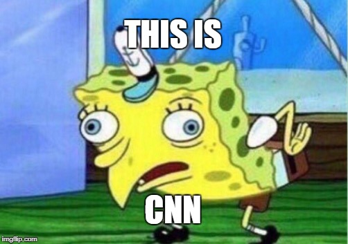 This is CNN | THIS IS CNN | image tagged in memes,mocking spongebob,cnn sucks | made w/ Imgflip meme maker