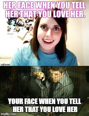 Shout out to ExposedTv for the original meme | A A | image tagged in overly attached girlfriend | made w/ Imgflip meme maker