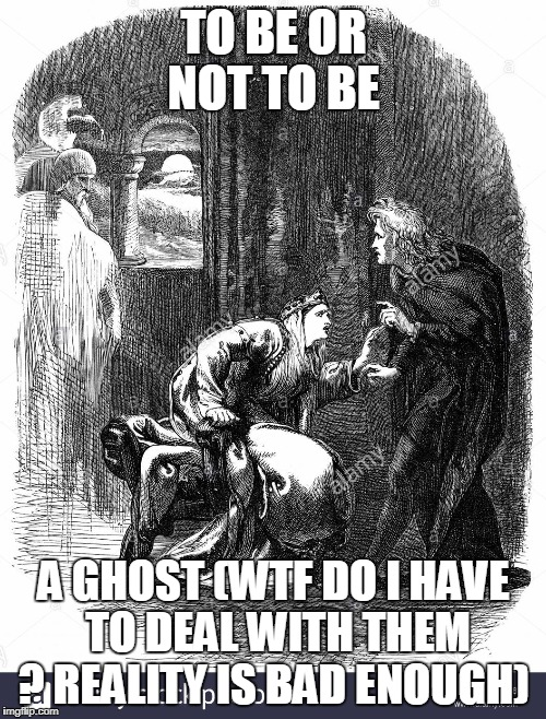 TO BE OR NOT TO BE A GHOST (WTF DO I HAVE TO DEAL WITH THEM ? REALITY IS BAD ENOUGH) | made w/ Imgflip meme maker