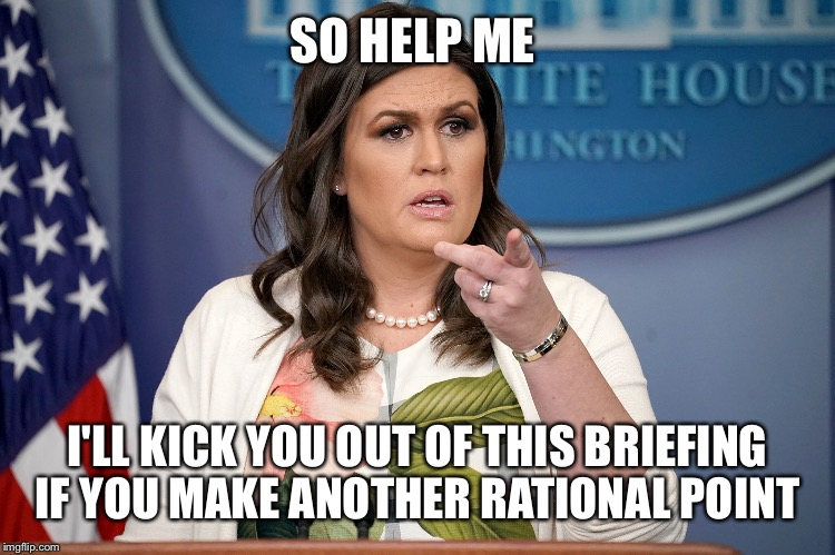 SO HELP ME I'LL KICK YOU OUT OF THIS BRIEFING IF YOU MAKE ANOTHER RATIONAL POINT | made w/ Imgflip meme maker