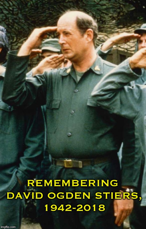 Rest In Peace Major Charles Emerson Winchester III | REMEMBERING DAVID OGDEN STIERS, 1942-2018 | image tagged in mash,winchester,rest in peace,david,charles | made w/ Imgflip meme maker