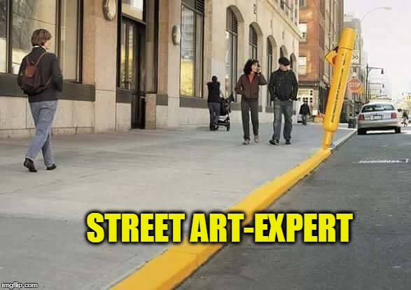 STREET ART-EXPERT | image tagged in street art,level expert | made w/ Imgflip meme maker