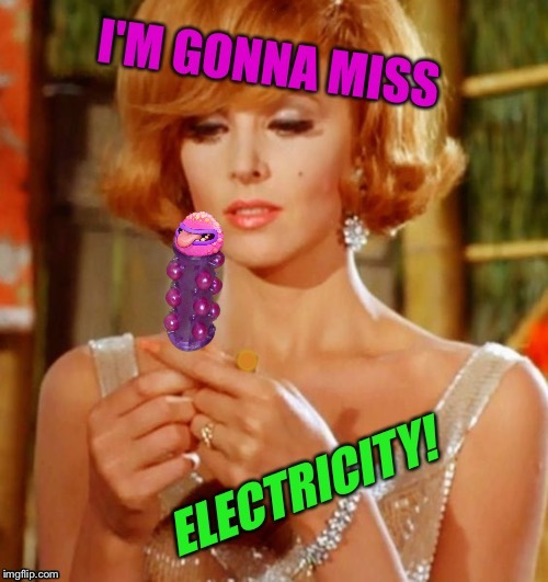 Maybe the Professor can invent Solar Batteries?! Gilligan's Island March 5-12 DrSarcasm Event! | . | image tagged in gilligans island week,ginger,tv humor,electricity | made w/ Imgflip meme maker