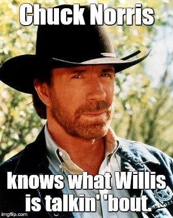 If Chuck Norris were on Diff'rent Strokes | Chuck Norris knows what Willis is talkin' 'bout. | image tagged in memes,chuck norris,different strokes,willis,gary coleman | made w/ Imgflip meme maker